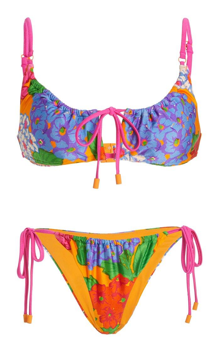 Riders Printed String Bikini Set