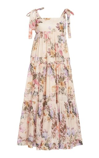 Brighton Floral Cotton Midi Dress