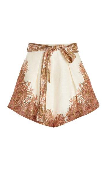 Brighton Tuck Linen Shorts