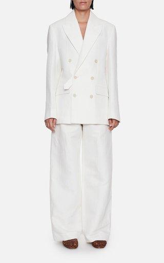 Pearson Linen-Cotton Wide Leg Trousers