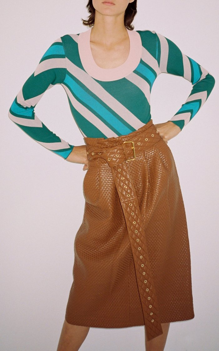 Tricia Leather Skirt