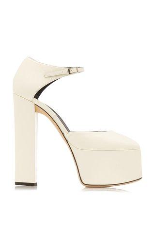 Bebe Leather Platform Sandals