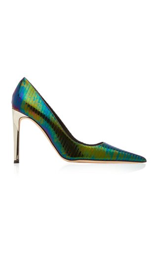 Alexandra Iridescent Leather Pumps
