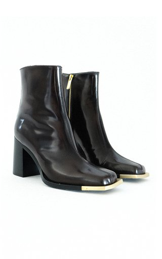 Leather Gold-Tone Everyday Boots