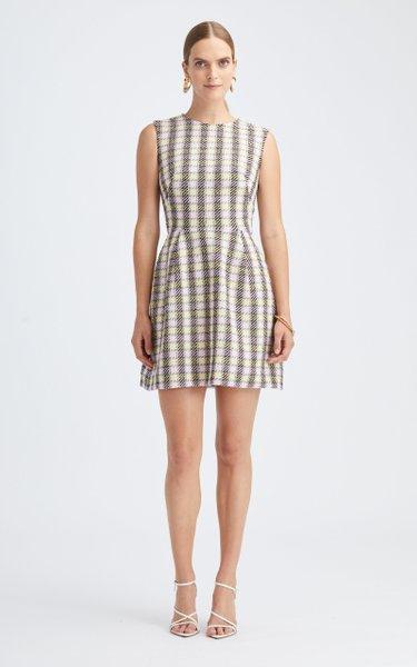 Plaid Mini Day Dress