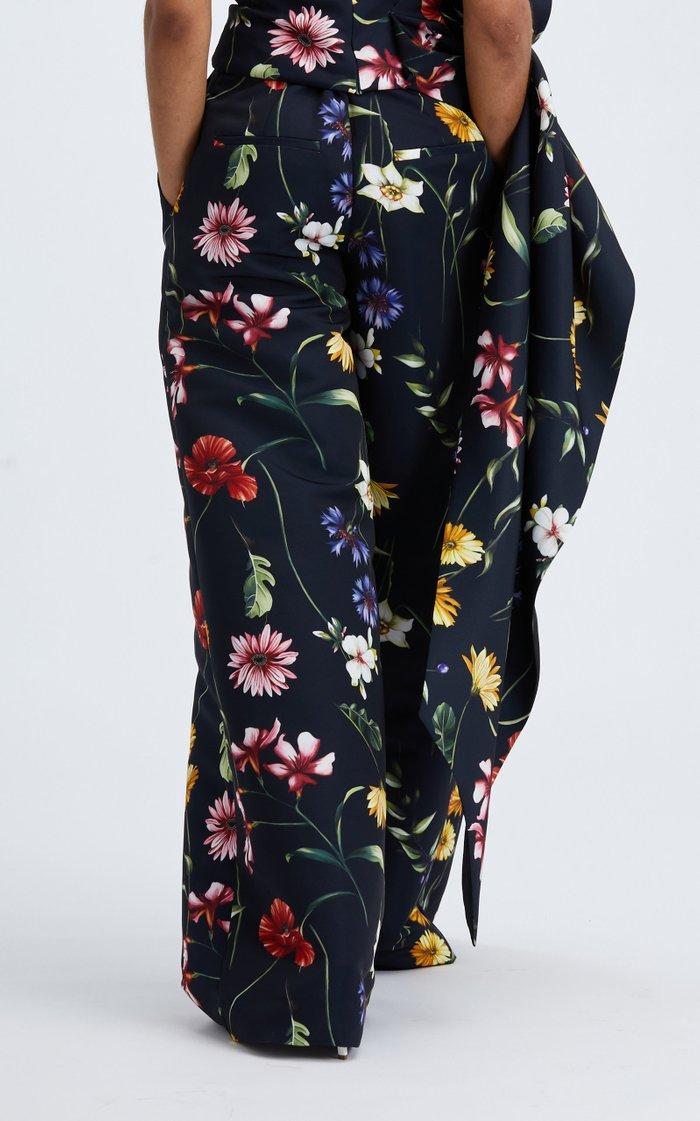 High-Rise Floral Wide-Leg Pant