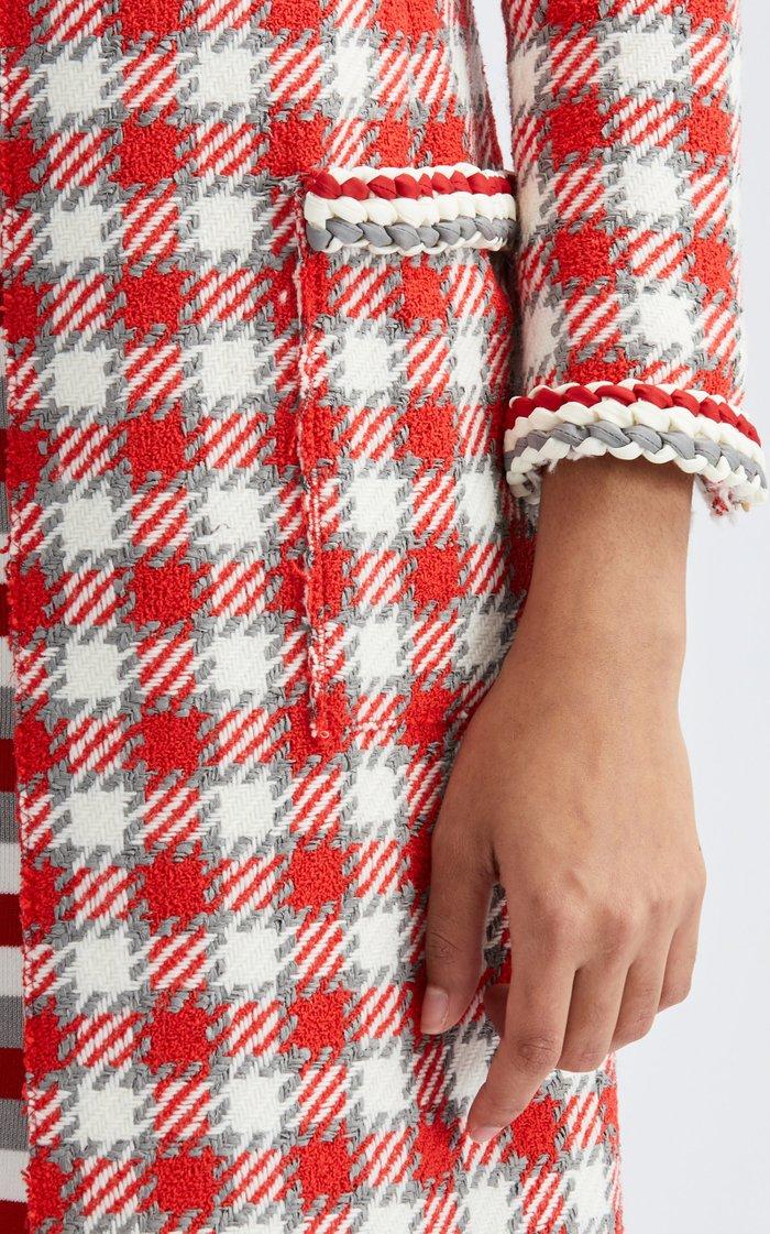 Tweed Braided Trim Coat