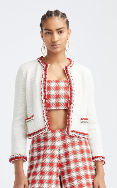 Wool-Blend Cropped Jacket