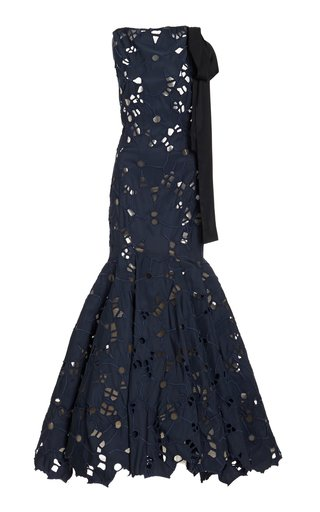 Silk-Blend Broderie Anglaise Gown