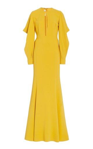 Ruffled Stretch-Silk Gown