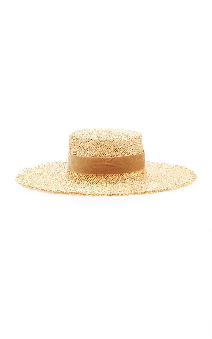 Aruba Frayed Raffia Sun Hat