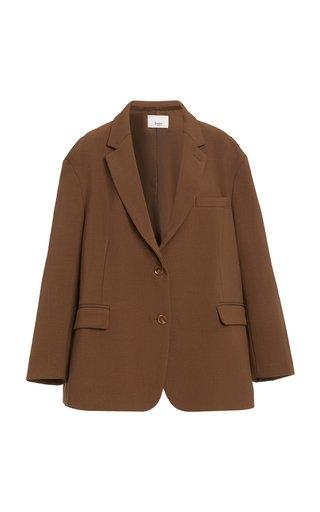 Bea Oversized Padded-Should Woven Blazer