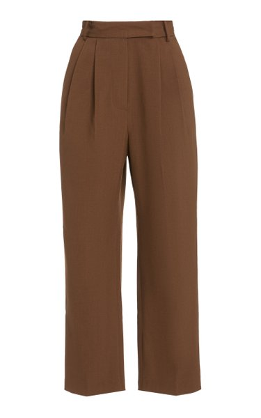 Bea Pleated Woven Trousers