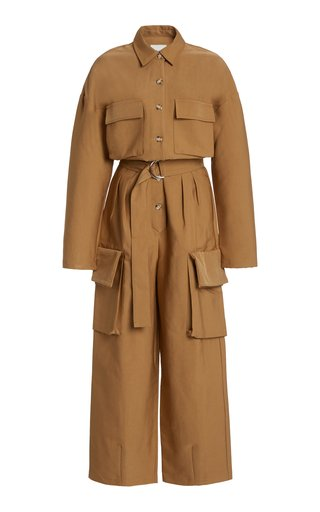 Linda Cotton-Blend Cargo Jumpsuit