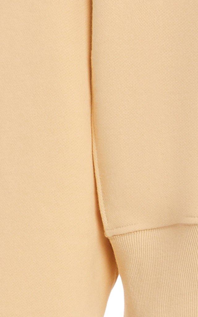 Vanessa Padded-Shoulder Cotton Sweatshirt