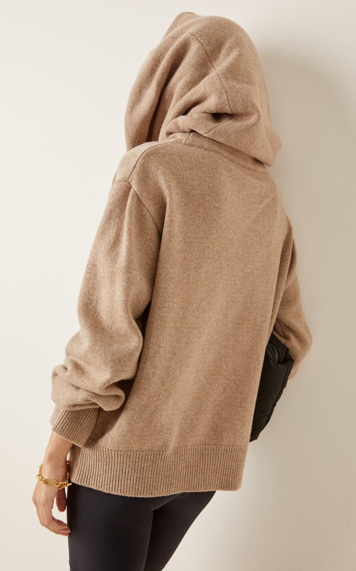Oversized Cowl-Neck Wool-Blend Sweater