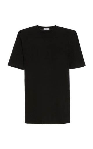 Sean Padded-Shoulder Cotton Mini T-Shirt Dress