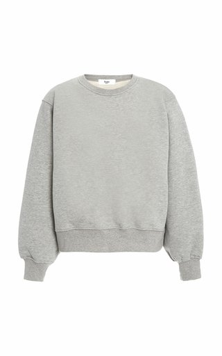 Vanessa Padded-Shoulder Cotton Sweatshirt