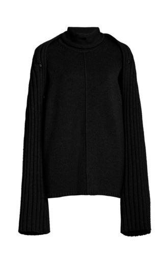 Grace Convertible Wool Turtleneck Sweater
