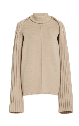 Grace Convertible Wool Turtleneck Sweater