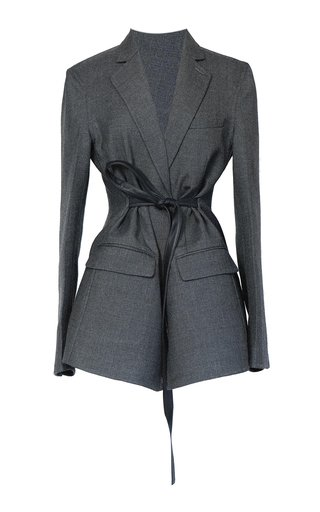 Everyday Belted Double-Faced Wool Blazer