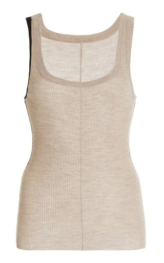 Vin Ribbed-Knit Cashmere-Silk Top