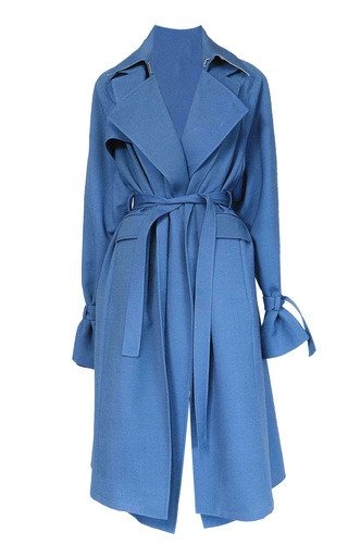 Everyday Layered Wool-Blend Trench Coat