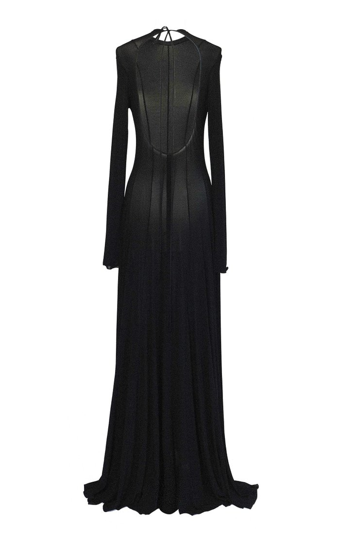 Squid Open-Back Jersey Maxi Dress