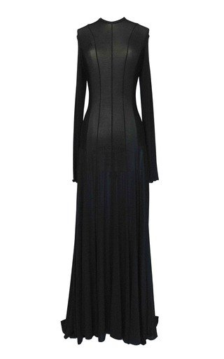 Squid Open-Back Jersey Maxi Dress