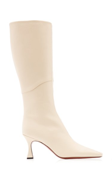 Knee-Length Leather Duck Boots