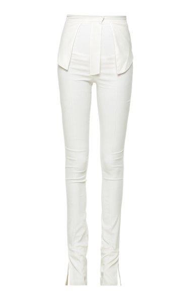 Split-Leg Stretch Jersey Slim Trousers