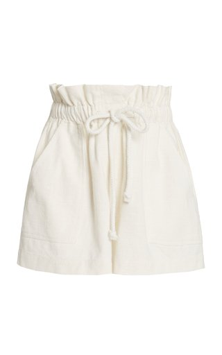 Exclusive Zuri Drawstring Cotton Shorts