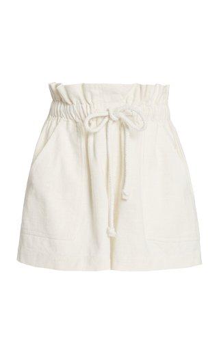 Exclusive Zuri Drawstring Cotton Shorts