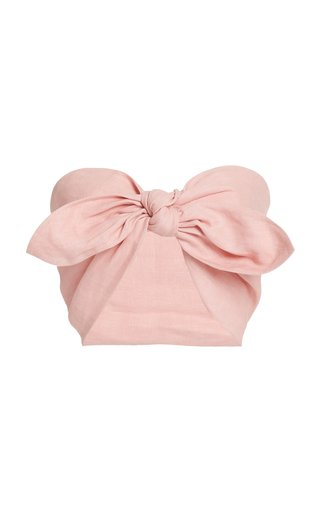 Exclusive Micky Linen Bandeau Top