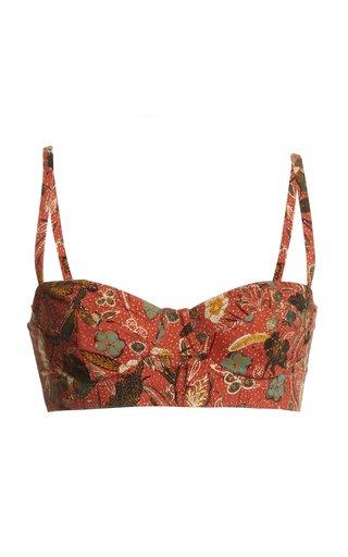 Zahara Floral Bikini Top