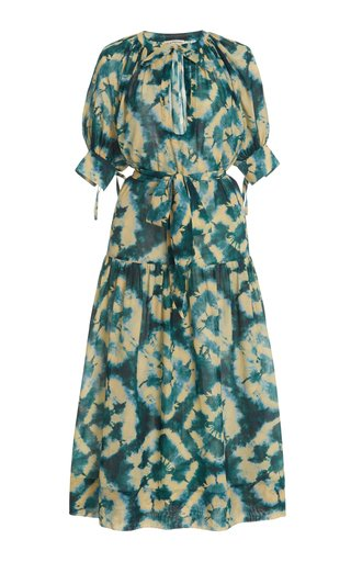 Selena Tie-Dyed Cotton-Blend Cover-Up Dress