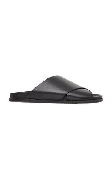 Arne Leather Slides
