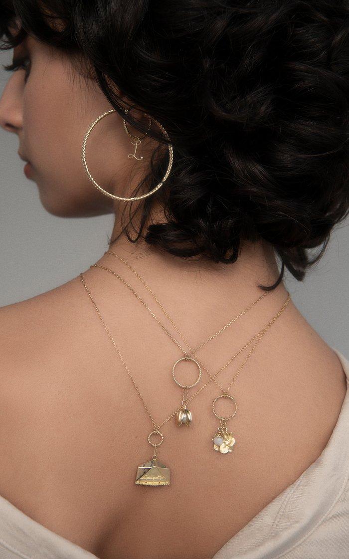 Keepsake Grand Tied Together 18K Yellow Gold Diamond Earrings