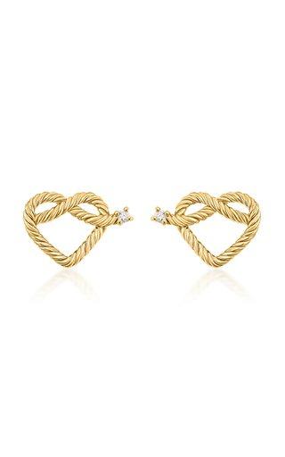 Promise 18K Yellow Gold Diamond Earrings