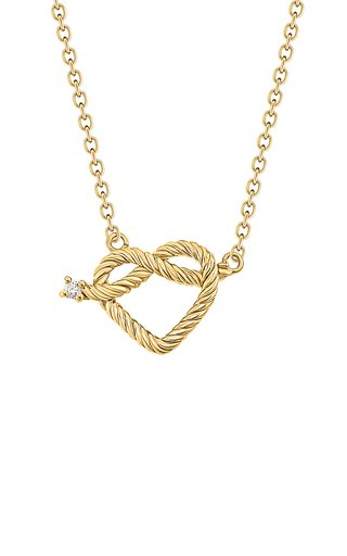 Promise 18K Yellow Gold Diamond Necklace