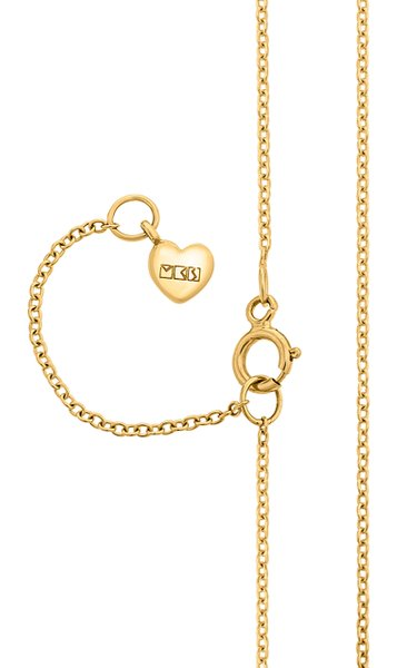 18K Yellow Gold Short Fine Chain Necklace