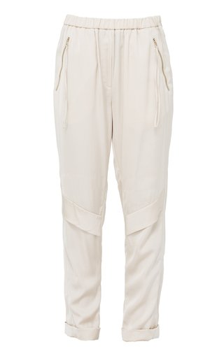 Slouchy Cool Satin Tapered Pants