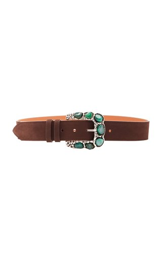 Stone Buckle 40 mm Nappa Leather Belt