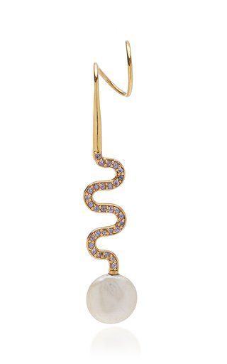 Miraggio Crystal-Embellished Gold-Plated Earring
