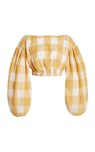 Sutherland Checked Woven Crop Top