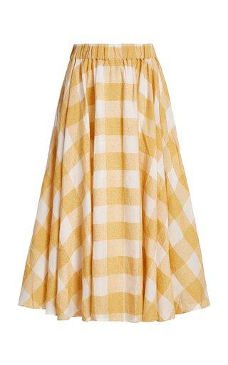 Sutherland Checked Woven Full Midi Skirt