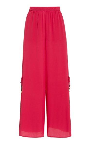 Boheme High-Rise Wide-Leg Silk Pants