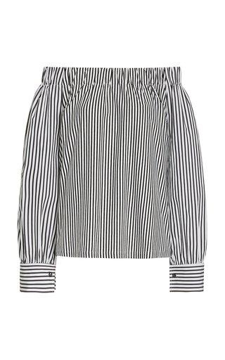 Conero Striped Off-The-Shoulder Cotton Top