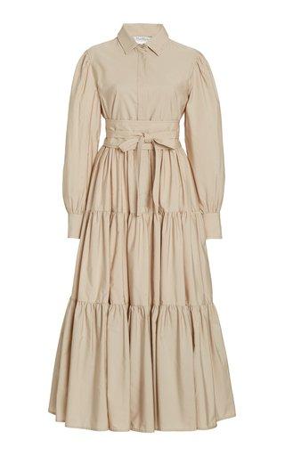 Bergen Collared Cotton Midi Dress