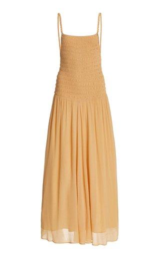Smocked Georgette Maxi Dress